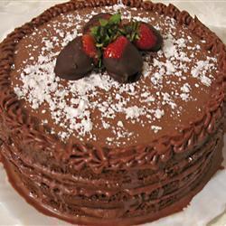 Кофейный торт с кофейной глазурью