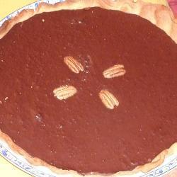 Шоколадный тарт с грецким орехом