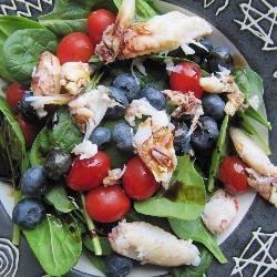 Летний салат из крабов