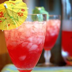 Малиновый лимонад с водкой