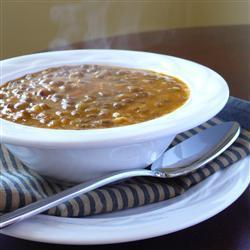 Суп из чечевицы по-гречески (Факес)