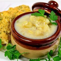 Картофельный суп с треской и сливочным сыром
