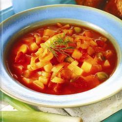 Овощной суп с фенхелем и брюквой