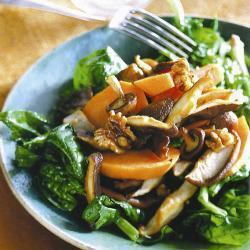 Салат из батата с грибами шиитаке