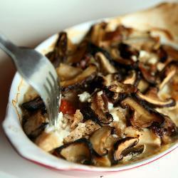 Рыба с грибами запеченная в духовке