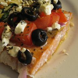 Запеченный лосось по-гречески