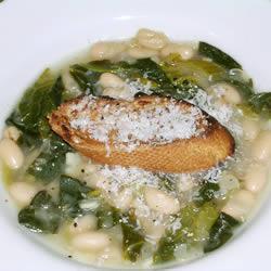 Суп из белой фасоли и шпината