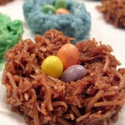 Пасхальные гнездышки из кокоса