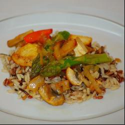 Рис со спаржей и тофу