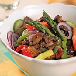 Задунайский салат с печеным перцем