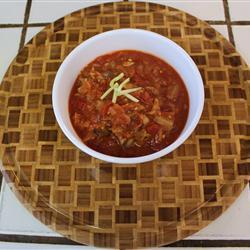 Африканский суп из рыбных консервов в томатном соусе
