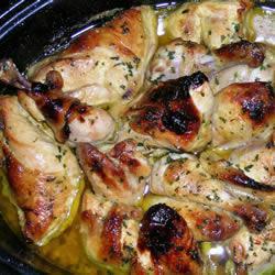 Курица в духовке с медом и горчицей