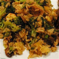Рис с брокколи методом стир фрай