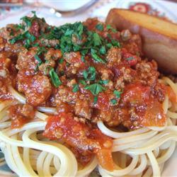 Мясной томатный соус для спагетти или лазаньи