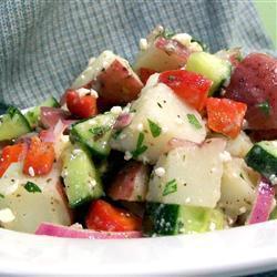 Картофельный салат по-летнему