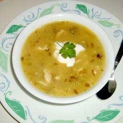 Мексиканский суп из физалиса