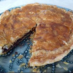 Пирог с миндально-шоколадной начинкой