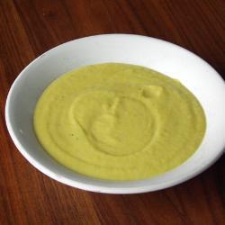 Суп-пюре из кабачков с лимонным ароматом