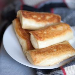Блинчики с сыром и грибами