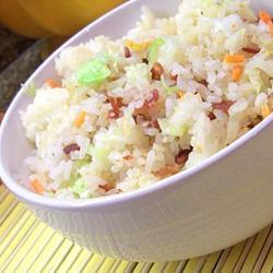 Рисовый салат с капустой