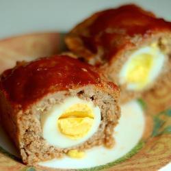 Мясной хлеб (Митлоф) с яйцом