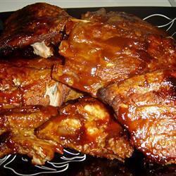 Свиные рёбрышки в  соусе барбекю