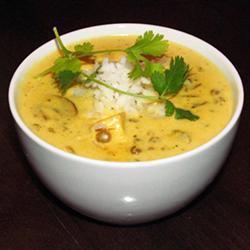 Куриный суп с грибами и рисом