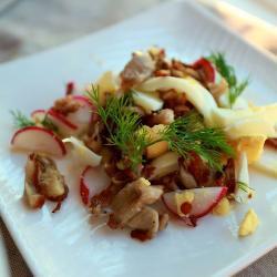 Салат из грибов с яйцами