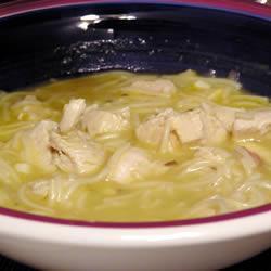 Сверхлёгкий куриный суп с вермишелью