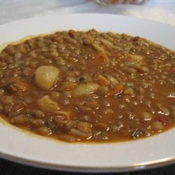 Мамин суп из чечевицы