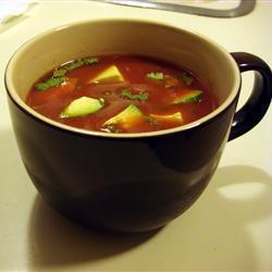 Летний томатный суп с авокадо