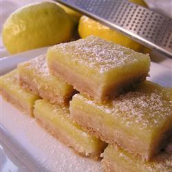 Лимонные пирожные из песочного теста