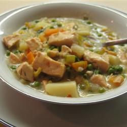 Суп Чаудер из лосося