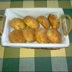 Булочки c сыром и беконом
