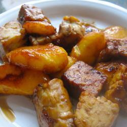 Тофу в маринаде с манго