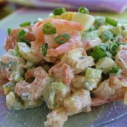 Очень вкусный салат с креветками