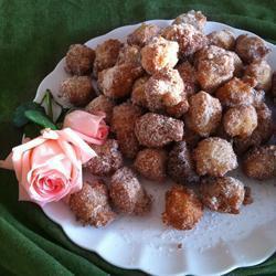 Пончики-шарики с корицей