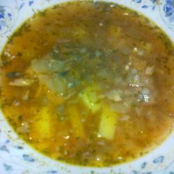 Суп из рыбных консервов с гречкой