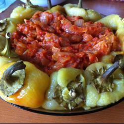 Перцы запеченные с томатной заправкой