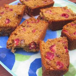 Клюквенно-ореховый пирог
