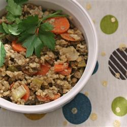 Салат из гречки и чечевицы