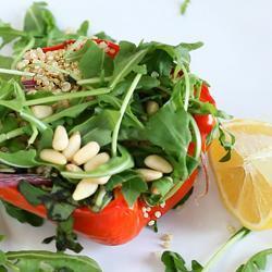 Салат из киноа с печеными овощами