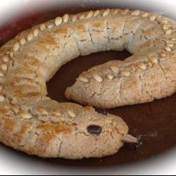 Миндальный пирог Змейка