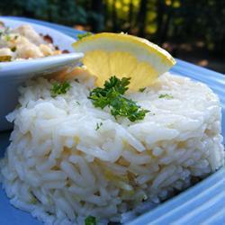 Рис с лимоном и имбирем