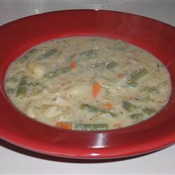 Суп из стручковой фасоли, кислой капусты и картофеля