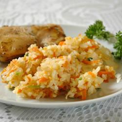 Имбирный рис с морковкой
