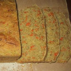 Постный морковный хлеб с ржаной мукой