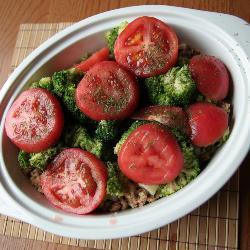 Запеканка из брокколи c мясом