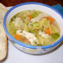 Куриный суп с сельдереем