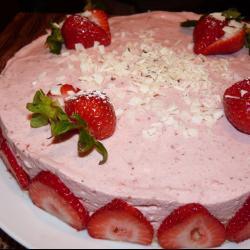Торт-мусс из клубники и белого шоколада